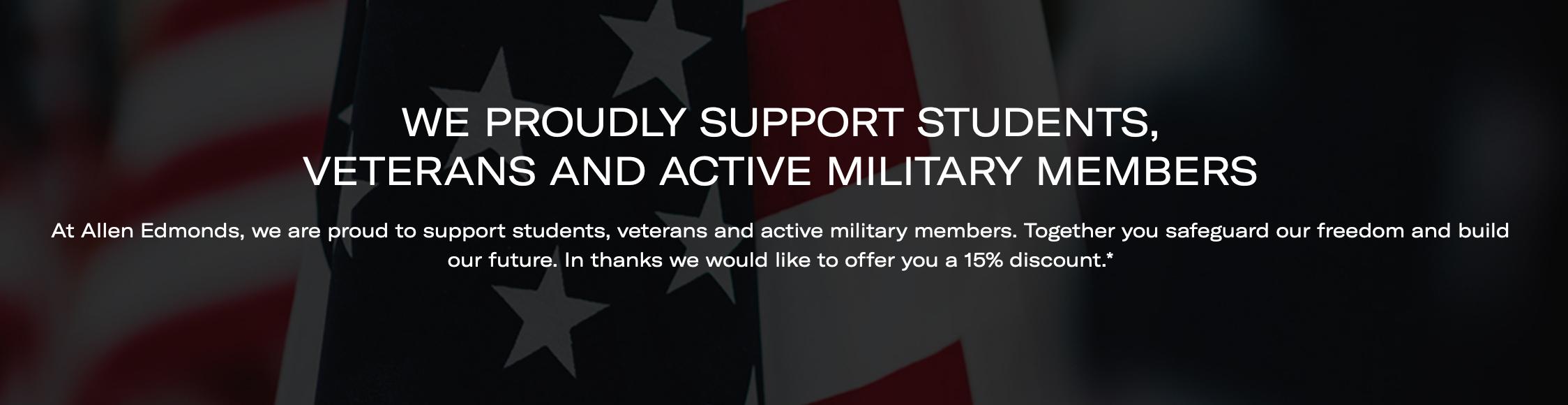Allen Edmonds Military Veteran Discount