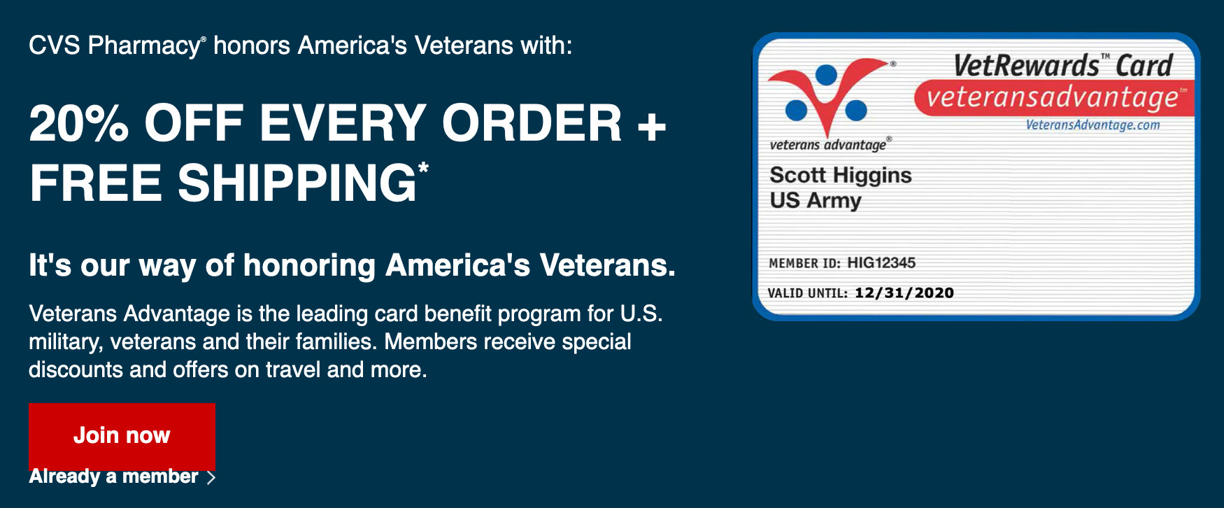 CVS Military Veteran Discounts