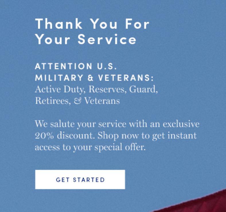 Cole Haan Military Veteran Discounts