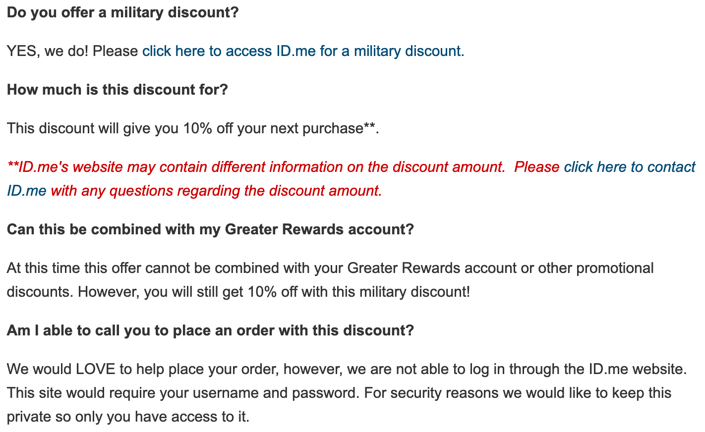 Columbia Military Veteran Discounts