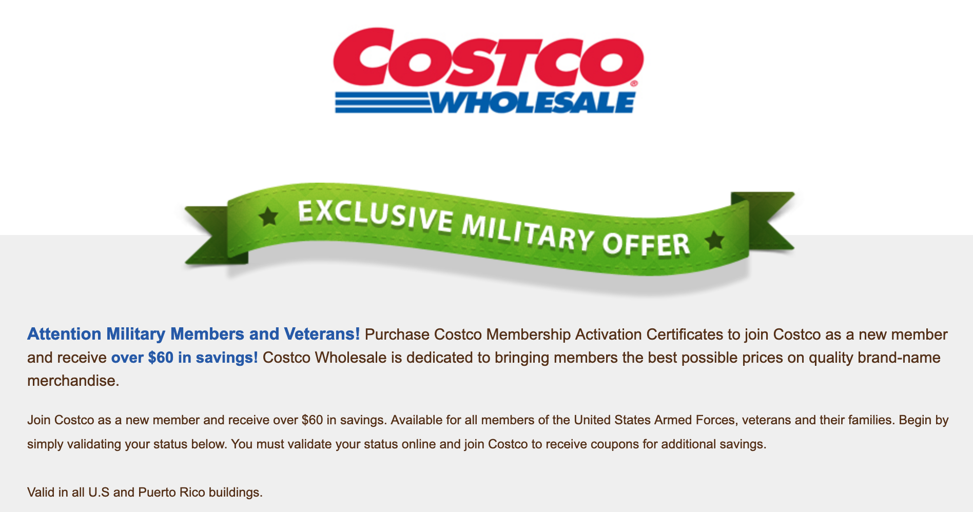 Costco Military Veteran Discounts
