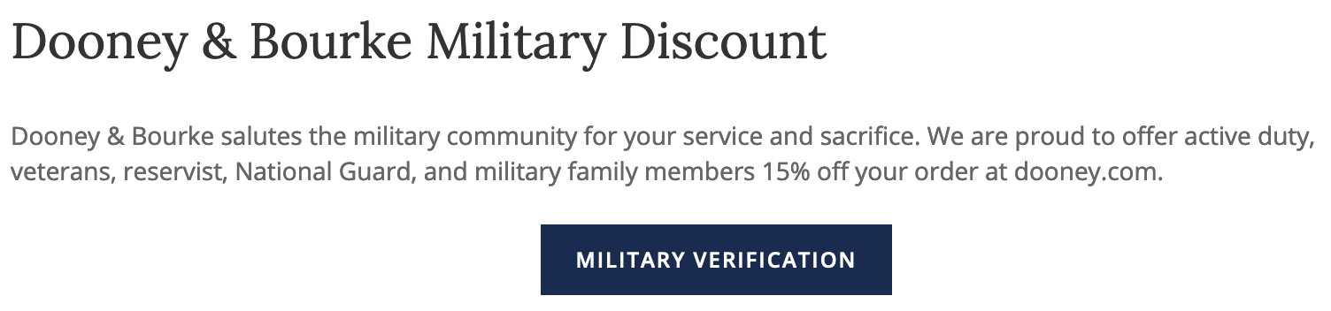 Dooney & Bourke Military Veteran Discounts