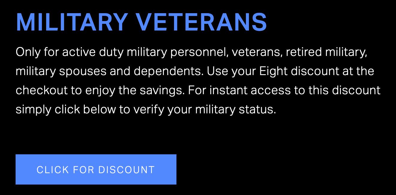 Eight Sleep Military Veteran Discounts