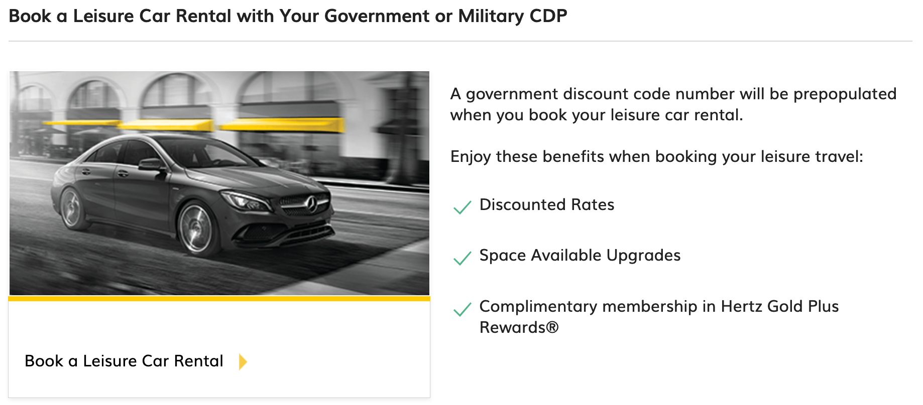 Hertz Military Veteran Discounts