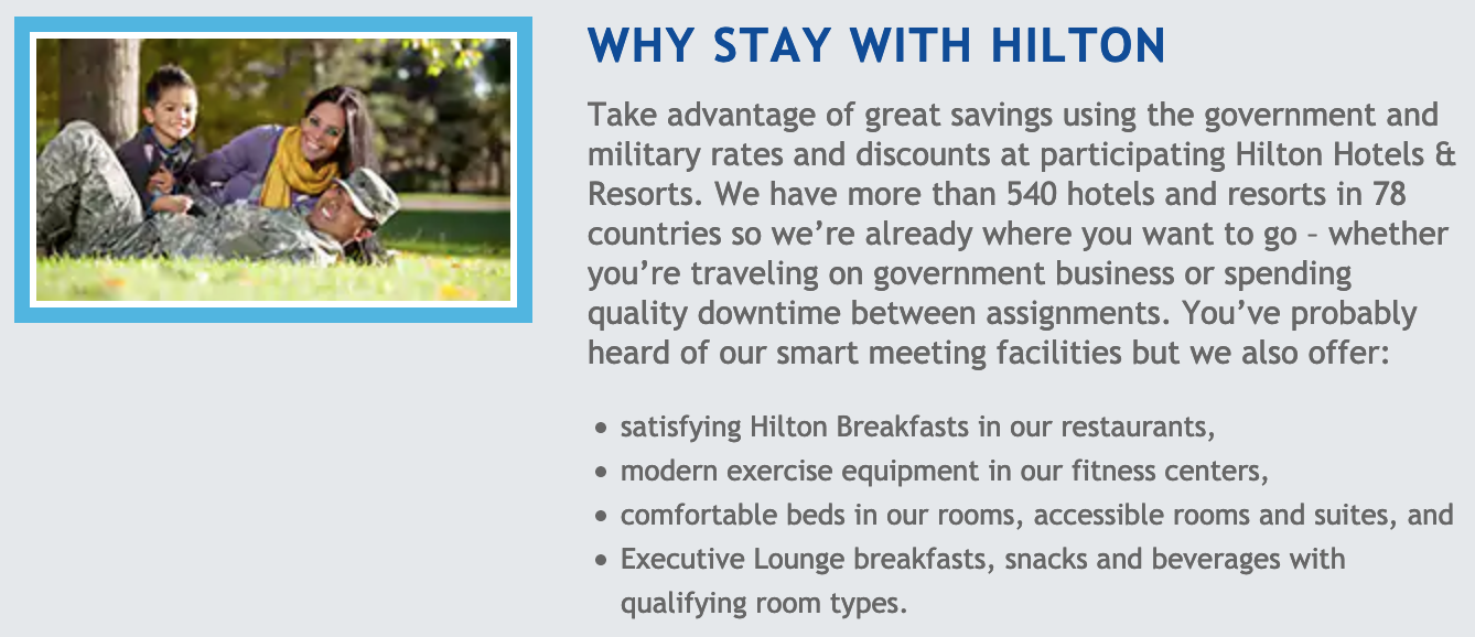 Hilton Hotels Military Veteran Discounts