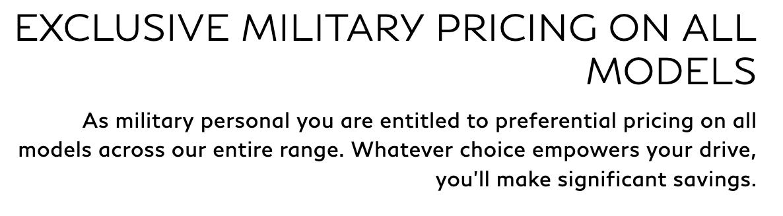 Infiniti Military Veteran Discounts