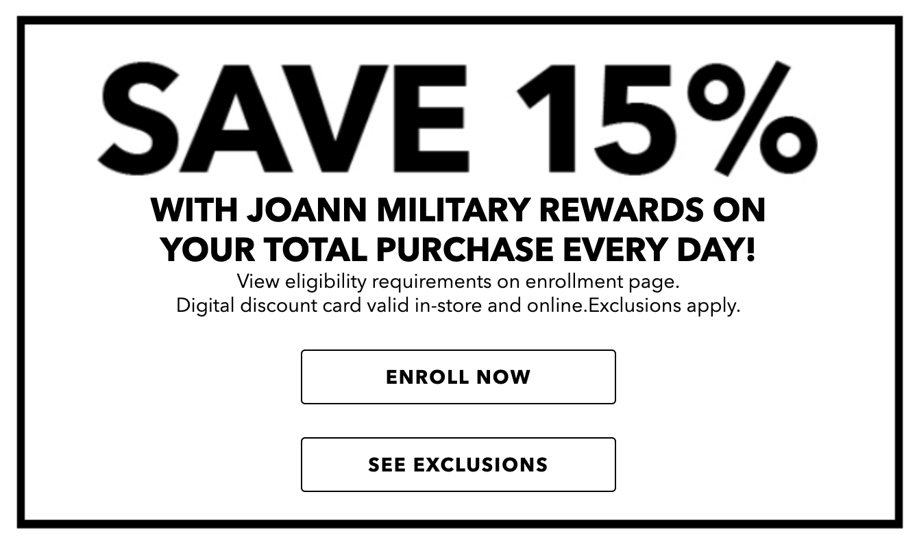 JoAnn Fabric Military Veteran Discounts