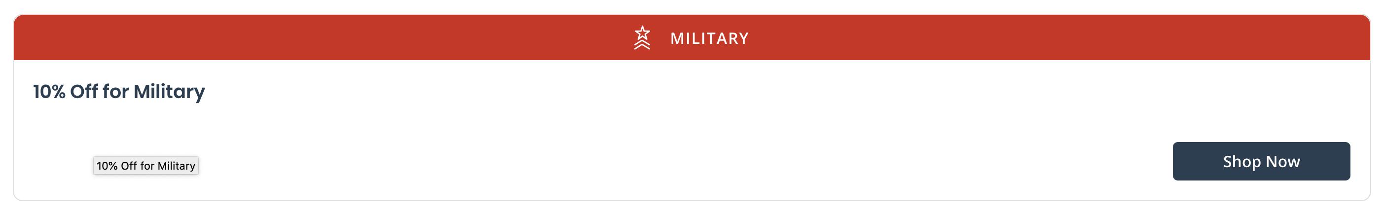 Jolyn Military Veteran Discounts