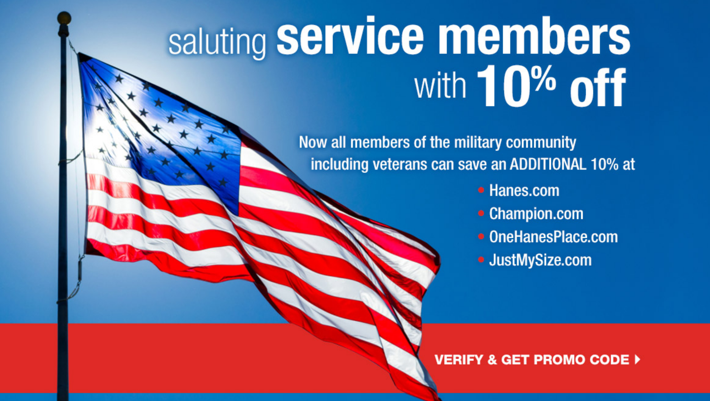 Just My Size Military Veteran Discounts