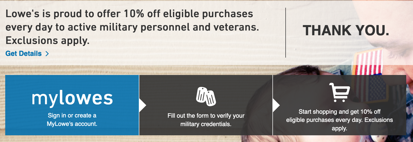 Lowe's Military Veteran Discounts