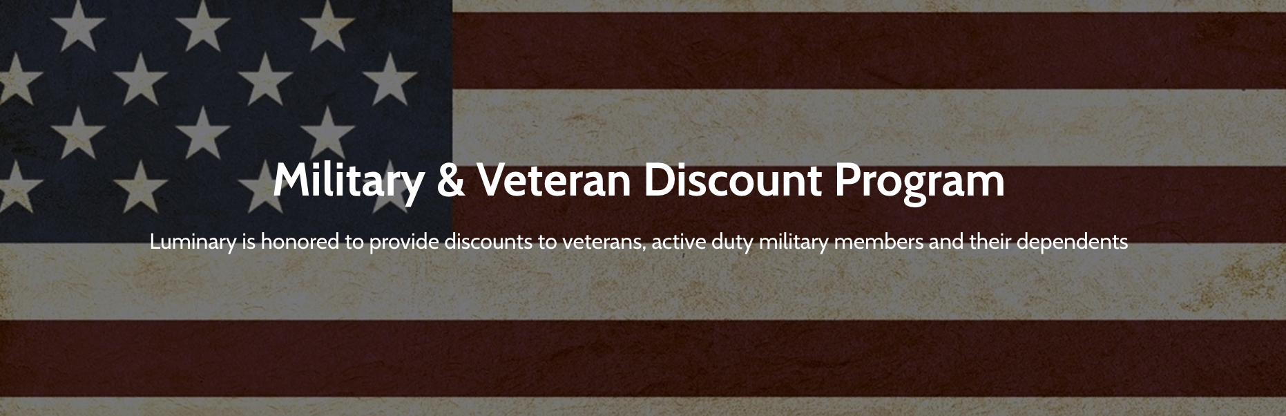 Luminary Global Military Veteran Discounts