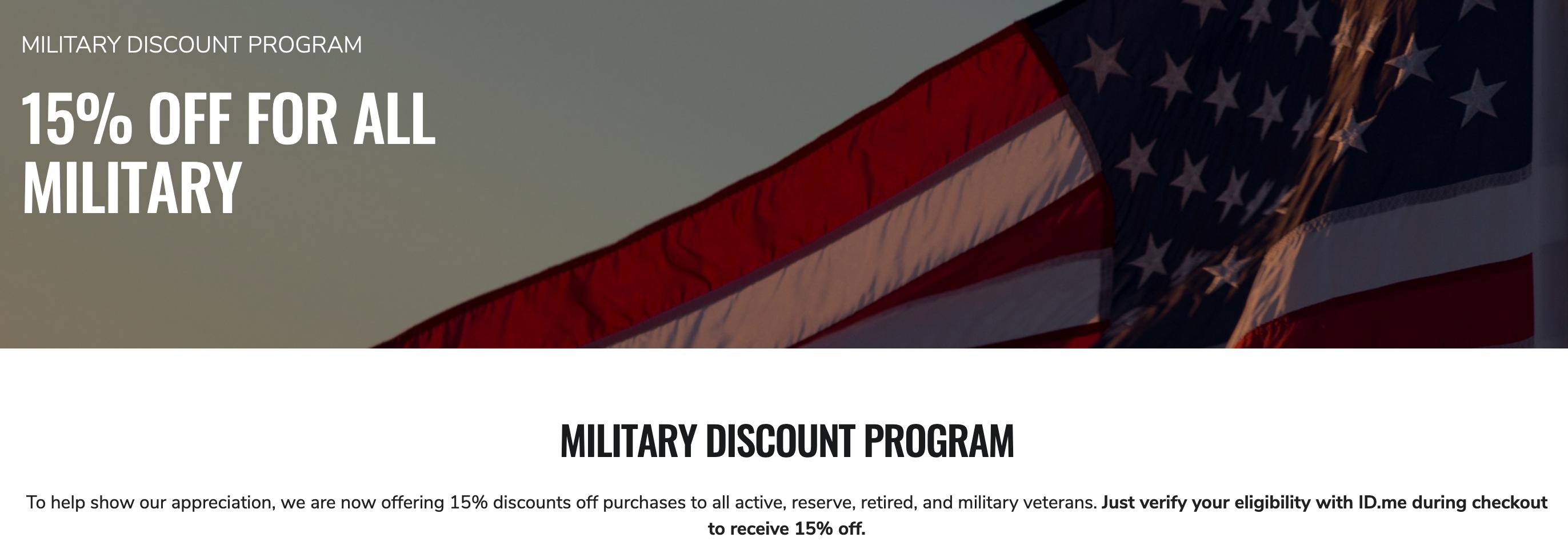 OGIO Military Veteran Discounts