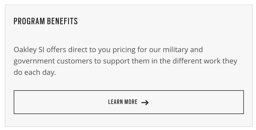 Oakley Military Veteran Discounts