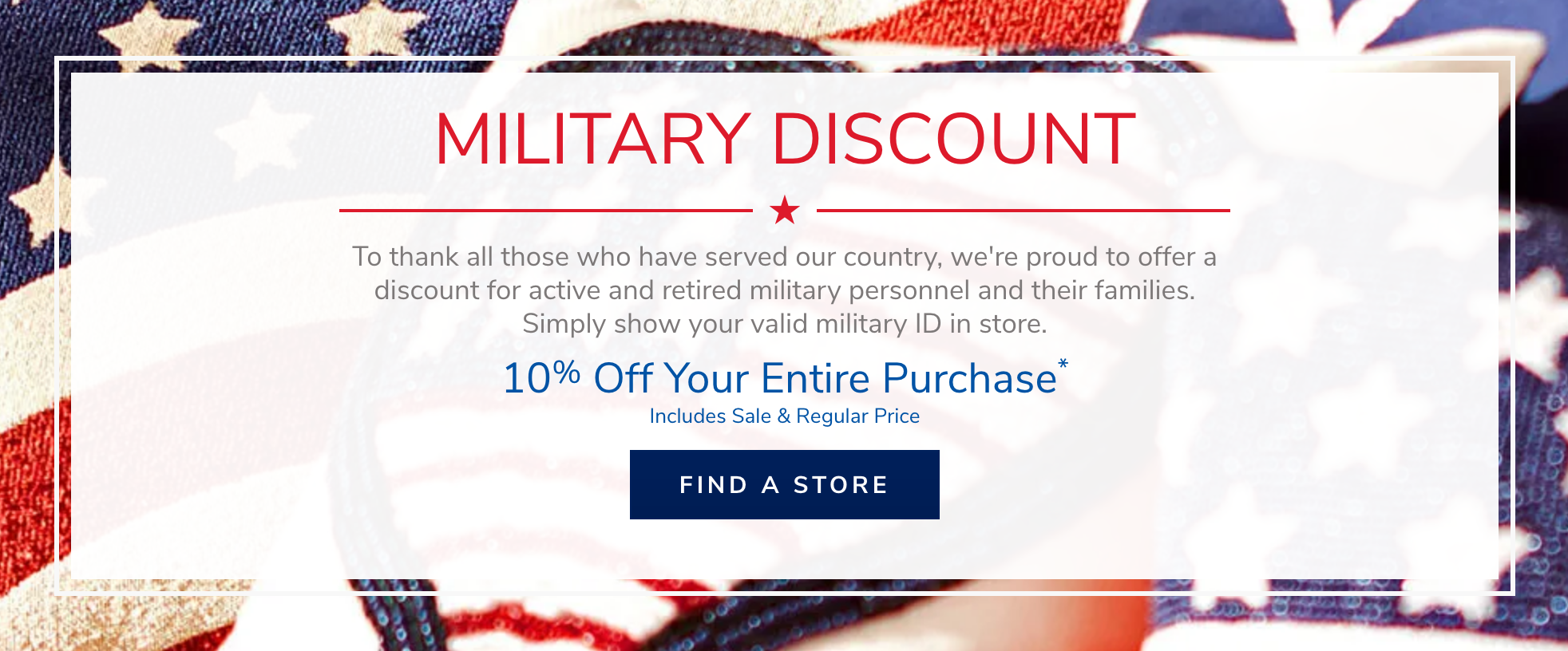 Pier 1 Military Veteran Discounts
