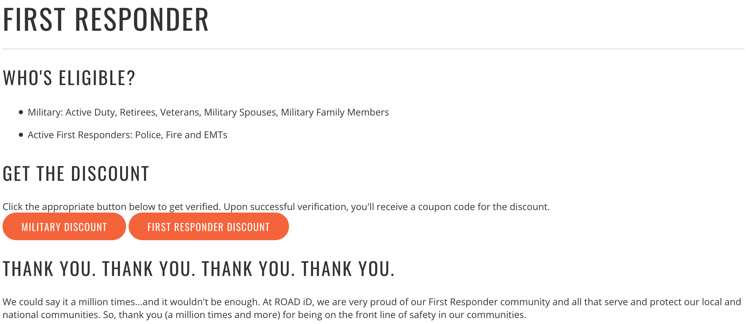 ROAD ID Military Veteran Discounts