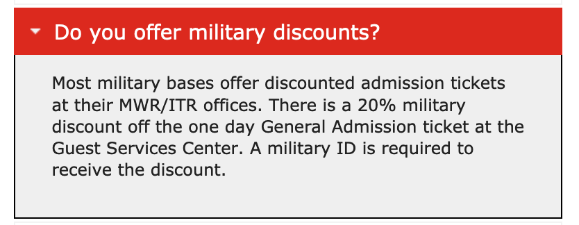 Six Flags Military Veteran Discounts