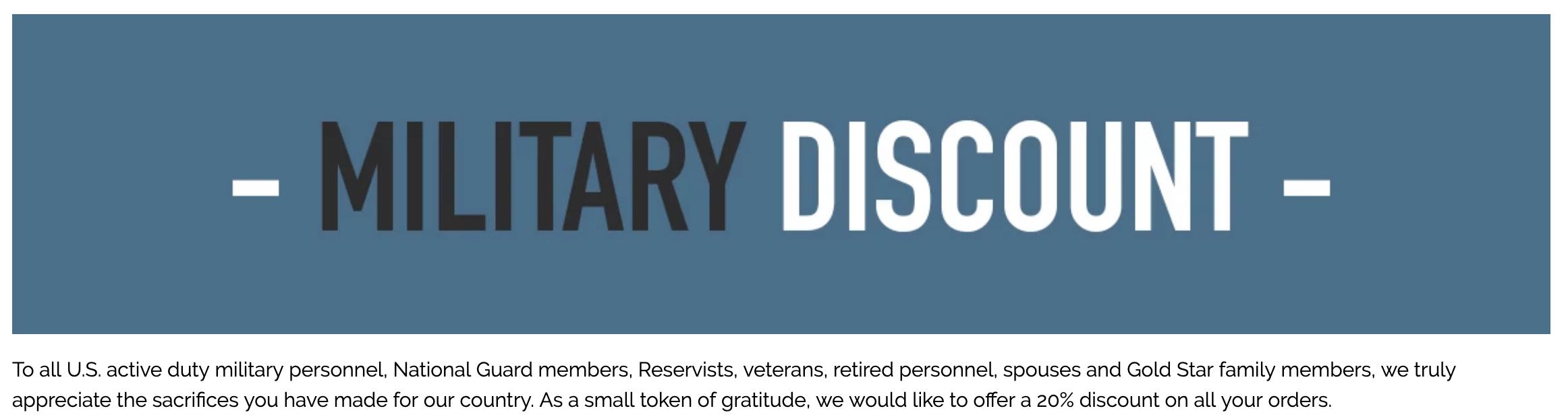 Sword & Plough Military Veteran Discounts