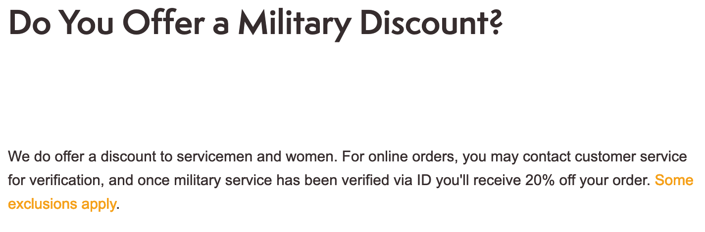 Timberland Military Veteran Discounts