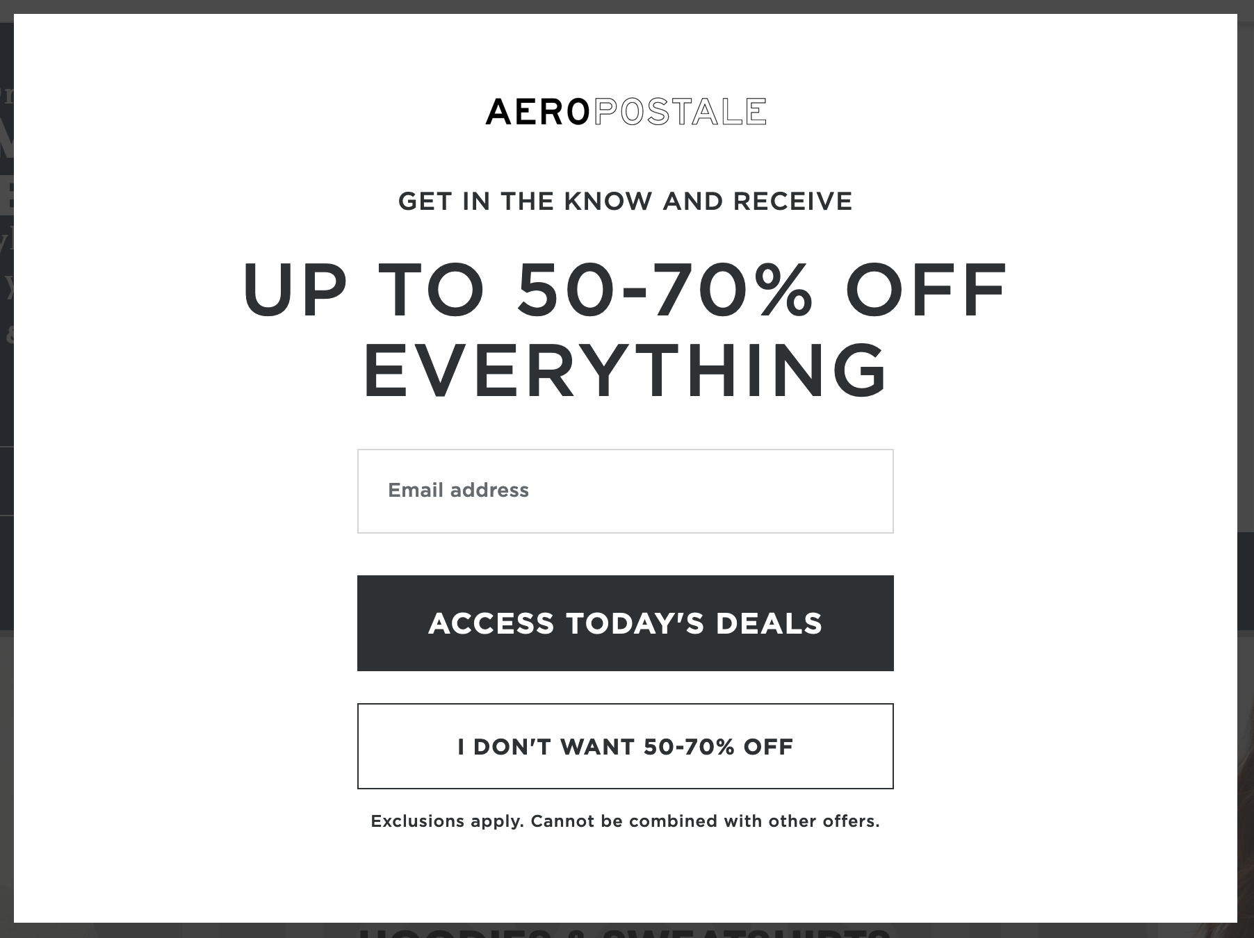 Aeropostale Military Veteran Discounts