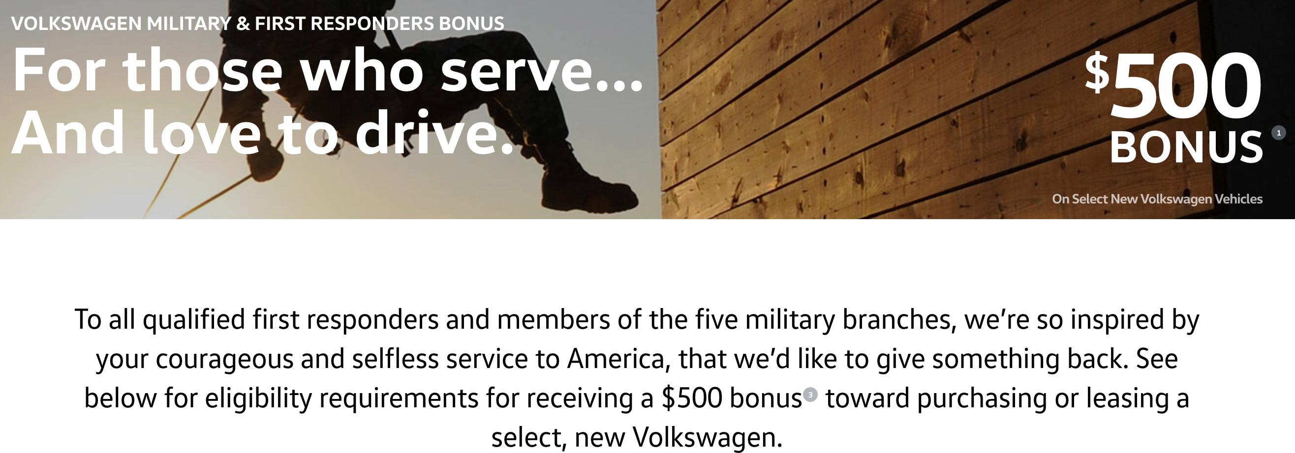 Volkswagen Military Veteran Discounts