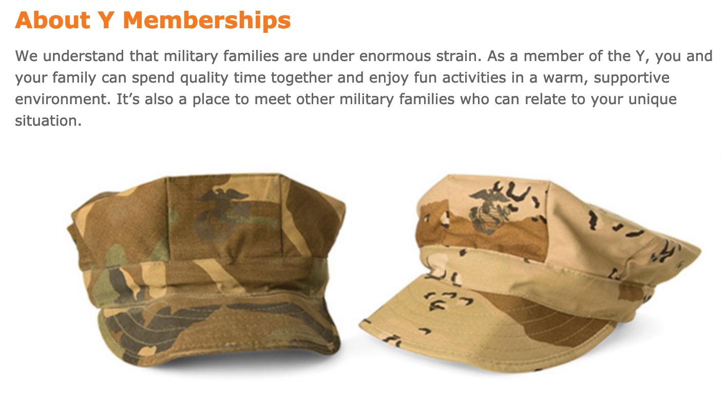 YMCA Military Veteran Discounts