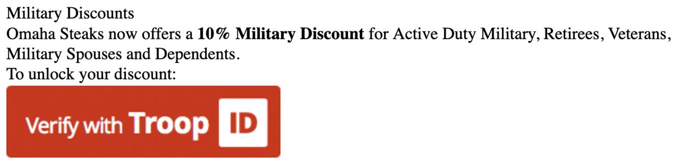 Omaha Steaks Military Discount